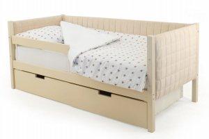 Детская кровать-тахта мягкая Svogen бежевый - Мебельная фабрика «Бельмарко»