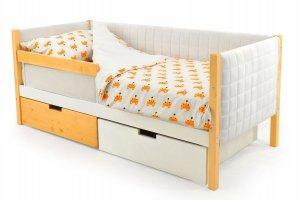 Детская кровать-тахта мягкая Svogen дерево-белый - Мебельная фабрика «Бельмарко»