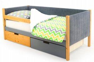 Детская кровать-тахта мягкая Svogen дерево-графит - Мебельная фабрика «Бельмарко»