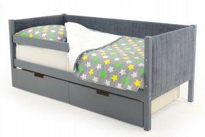 Детская кровать-тахта мягкая Svogen графит - Мебельная фабрика «Бельмарко»