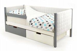 Детская кровать-тахта мягкая Svogen графит-белый - Мебельная фабрика «Бельмарко»