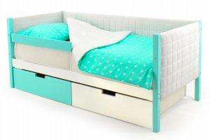 Детская кровать-тахта мягкая Svogen мятно-белый - Мебельная фабрика «Бельмарко»
