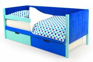 Детская кровать-тахта мягкая Svogen мятно-синий - Мебельная фабрика «Бельмарко»