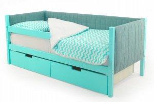 Детская кровать-тахта мягкая Svogen мятный - Мебельная фабрика «Бельмарко»