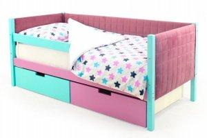 Детская кровать-тахта мягкая Svogen мятный-лаванда - Мебельная фабрика «Бельмарко»