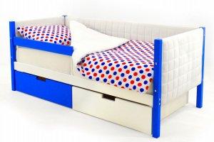 Детская кровать-тахта мягкая Svogen сине-белый - Мебельная фабрика «Бельмарко»
