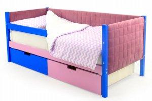Детская кровать-тахта мягкая Svogen синий-лаванда - Мебельная фабрика «Бельмарко»