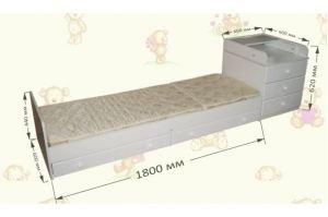 Детская кровать-трансформер маятник - Мебельная фабрика «AvtoBaby»