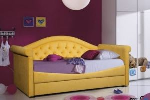 Детская кровать Жасмин в каретной стяжке - Мебельная фабрика «Уют»
