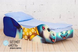 Детская кровать-зверята Бегемот Мотя - Мебельная фабрика «Гамма-мебель»