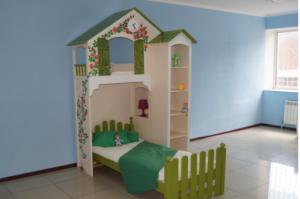 Детская кроватка Домик  НЯНЯ  - Мебельная фабрика «Няня», г. Краснодар