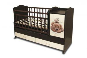 Детская кроватка КТМ — МИШКИ - Мебельная фабрика «Папа Карло»