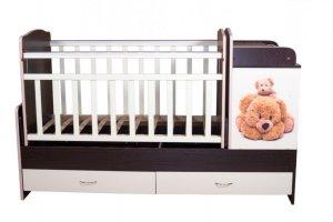 Детская кроватка КТП — МИШКИ - Мебельная фабрика «Папа Карло»
