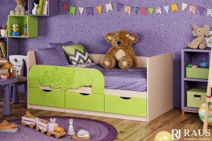 Детская кроватка Мишка на облаке - Мебельная фабрика «РАУС»