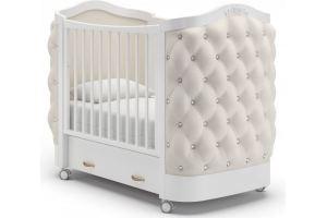 Детская кроватка на колеса Тиффани декор стразы - Мебельная фабрика «Гандылян»