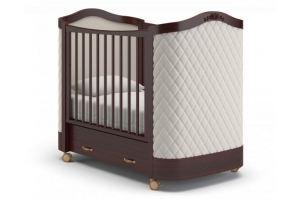 Детская кроватка на колесах Тиффани декор ромб - Мебельная фабрика «Гандылян»