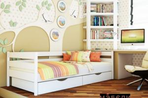 Детская кроватка Нота  с ящиками - Мебельная фабрика «МЭБЕЛИ»