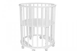 Детская кроватка Папа Карло 1/3 круглая (без маятника) - Мебельная фабрика «Агат»