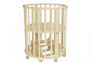 Детская кроватка Папа Карло 1/4 круглая (маятник поперечный) - Мебельная фабрика «Агат»