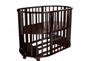 Детская кроватка Папа Карло 1/6 овальная (маятник поперечный) - Мебельная фабрика «Агат»