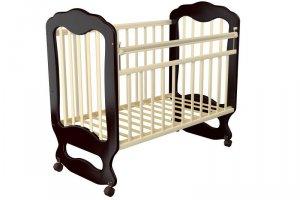 Детская кроватка Папа Карло 2/4 комбинированная - Мебельная фабрика «Агат»
