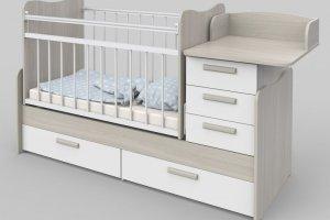 Детская кроватка с комодом Вероника - Мебельная фабрика «Атон-мебель»