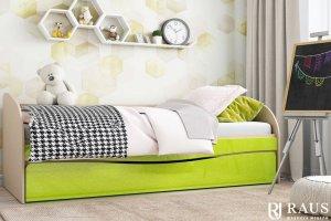 Детская кроватка Лайм металлик - Мебельная фабрика «РАУС»