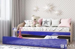 Детская кроватка Синий металлик - Мебельная фабрика «РАУС»