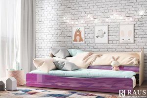 Детская кроватка Сиреневый металлик - Мебельная фабрика «РАУС»