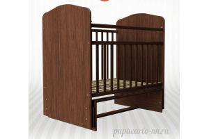 Детская кроватка Золушка 10 (маятник поперечный)  - Мебельная фабрика «Агат»
