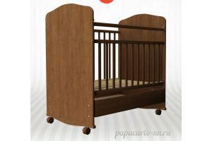 Детская кроватка Золушка 9 (колесо + качалка +ящик на направляющих)  - Мебельная фабрика «Агат»