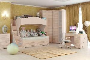 Детская Марта с двухъярусной кроватью - Мебельная фабрика «Ясень»