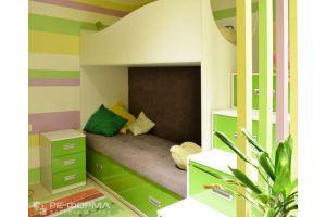 Детская мебель 007 двухъярусная кровать - Мебельная фабрика «Ре-Форма»