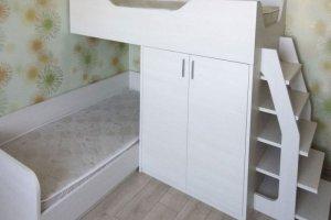 Детская мебель 02 двухъярусная кровать - Мебельная фабрика «Ре-Форма»