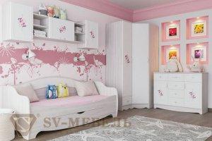 Детская мебель Акварель 1 для девочки - Мебельная фабрика «SV-мебель»