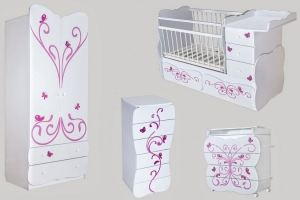 Детская мебель для девочки Бабочка - Мебельная фабрика «Сафаня»