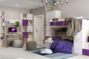 Детская мебель для двух детей Сити - Мебельная фабрика «Кредо»