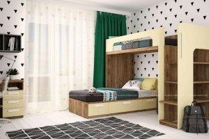 Детская мебель Junior лимонный сорбет - Мебельная фабрика «Клюква»