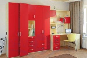 Детская мебель красная Виолетта - Мебельная фабрика «Люкс-С»
