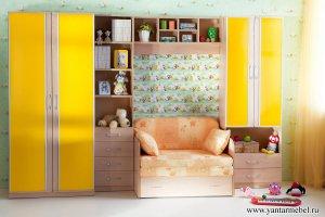 Детская мебель Радуга желтая - Мебельная фабрика «Янтарь»
