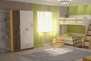 Детская модульная со шкафом Жираф - Мебельная фабрика «ЭТОмебель (Волгодонский комбинат древесных плит)»