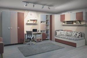 Детская-подростковая Smarty pink - Мебельная фабрика «Мирлачева»