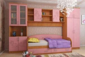 Детская розовая Веселые пони - Мебельная фабрика «НАРУС»