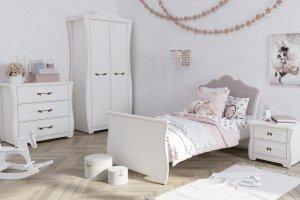 Детская с односпальной кроватью Ева платина - Мебельная фабрика «Клюква»
