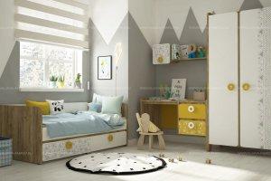 Детская Scetch серии Mini print - Мебельная фабрика «Klюkva»