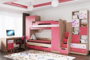 Детская Сити 1 розовая - Мебельная фабрика «SV-мебель»