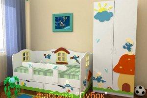 Детская Смурфики - Мебельная фабрика «Дубок»