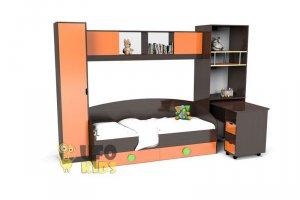 детская стенка К025 с кроватью и столом - Мебельная фабрика «UFOkids»