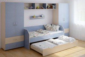 Детская стенка с выдвижной кроватью Легенда 15 - Мебельная фабрика «Легенда»