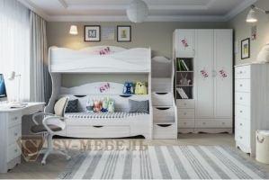 Детская светлая МДФ Акварель 1 - Мебельная фабрика «ИнтерСиб»